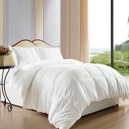 1Piece Cotton White Comforter Quilt Coverlet Rug Queen Size