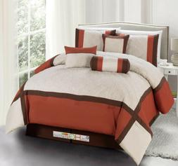 11 Quilted Diamond Square Patchwork Comforter Curtain Set Ru