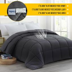 1PC New Thick Gray Sherpa Comforter Duvet Cover Full Fabric
