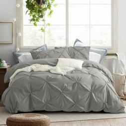 2/3 Pieces Pinch Comforter Duvet Cover Set with Zipper Closu