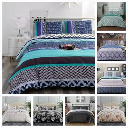 3 Piece Printed Duvet Cover Comforter Quilt Bed Cover Beddin