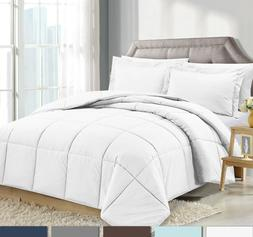 3 Piece Reversible Down Alternative Comforter Set - Comforte