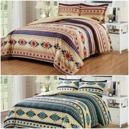 Chezmoi Collection 3-Piece Southwestern Tribal Multi-Color C