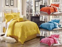 3PC GEOMETRIC PATTERN DUVET COVER SET FOR COMFORTER BED SOFT