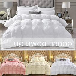 4D Luxury Goose Down Winter Quilt Duvets <font><b>Comforter<