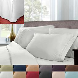 5 Piece Pleated Bed Skirt & Sheet Set 1500 Series Egyptian C
