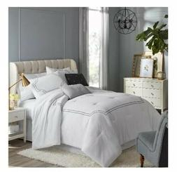 Hotel Style 5 Piece Queen Florence White Comforter