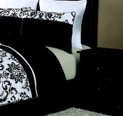 Como Design 5 Pieces Comforter Set Queen Jacquard&Microfiber