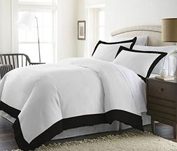 600 Thread Count 1 Pc Two Tone Duvet Cover  100% Egyptian Co
