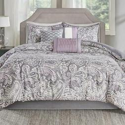 7 Piece Comforter Set Cotton Sateen Cover Polyester Fill Pur