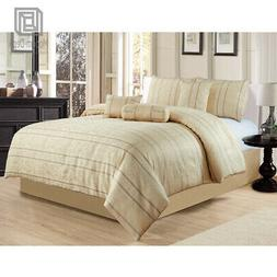 7-Piece Full Comforter Set Soft Bed In A Bag Home Bedroom Be