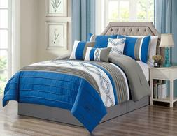 DCP.  7 Pieces Luxury Bedding Sets comforter sets bed in a b