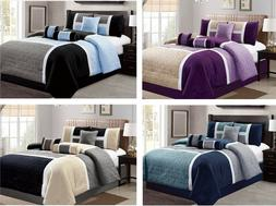 DCP 7 Piece Luxury Quilted Patchwork Comforter  Sets- Queen,