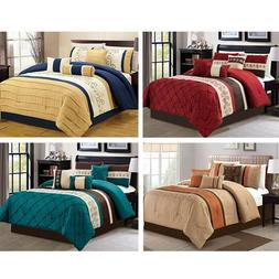 DCP 7Pcs Bed in a Bag Comforter Sets- Queen King Cal. King S
