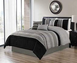 7pcs oversized embroidery bed in bag microfiber