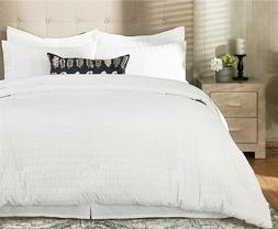Bedsure 8 Pieces Bed-in-A-Bag Queen Size, Seersucker Comfort