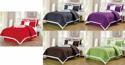 9 pc Pleated Microfiber Comforter Set Full, Queen, King and