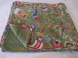 """Tribal Asian Textiles 90""""x108 Ethnic Queen Size Quilts Hippi"""