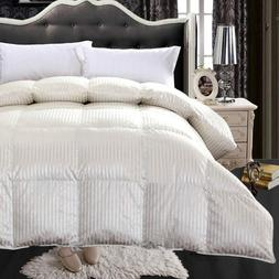 Royal Hotel 900 Thread Count Silk & Goose Down Striped Bedro