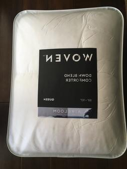 MALOUF Woven White Down and Feather Blend Comforter - Queen