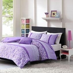 Mi-Zone Riley Comforter Set Full/Queen Size - Purple, Floral