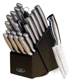 Oster 70562.22 Baldwyn 22-Piece Cutlery Block Set, Brushed S