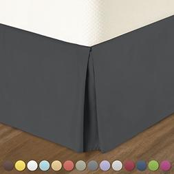 Nestl Bedding Pleated Bed Skirt - Luxury Microfiber Dust Ruf