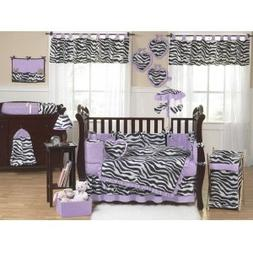 Sweet Jojo Designs 3-Piece Purple Funky Zebra Children's and