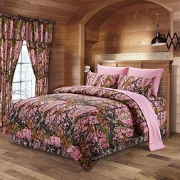 The Woods Pink Camouflage Queen 8pc Premium Luxury Comforter