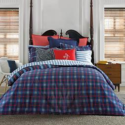 Tommy Hilfiger Boston Plaid Comforter Set, Full/Queen