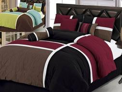Aaliyah 7-Piece Quilted Patchwork Comforter Set Over Sized K