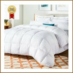 LINENSPA All-Season White Quilted Comforter Hypoallergenic B