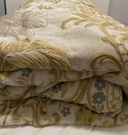 Waterford linens Ansonia Gold Comforter Only!! Queen 92 X 96