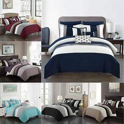 ayelet 10 piece color block comforter set