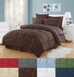 8 Piece Bed In A Bag Hotel Dobby Embossed Comforter Sheet Be