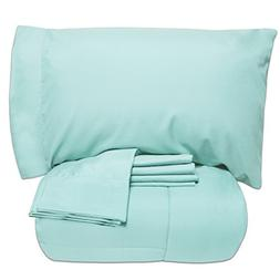 Sweet Home Collection Bed-in-a-Bag Solid Color Comforter and