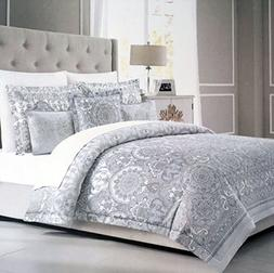Tahari Bedding 3 Piece Full / Queen Size Luxury Cotton Duvet