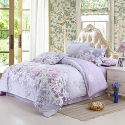 Bedding Set Purple Flowers <font><b>Bed</b></font> <font><b>