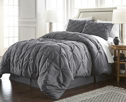 Chezmoi Collection Berlin 3-piece Pintuck Bedding Comforter