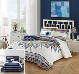 Chic Home Bethany Comforter Set, Queen, Blue, 5 Piece