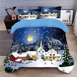 blue Christmas present 3D bedding set Duvet Covers Pillowcas