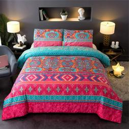 Bohemian Comforter Sets Queen Floral Soft Lightweight Exotic