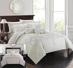 Perfect Home 10 Piece Brian Pinch Pleated Ruffled and Revers