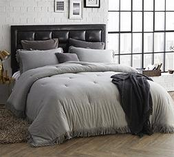Byourbed BYB Jersey Knit Queen Comforter with Textured Edgin