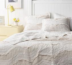Byourbed BYB Jet Stream Relaxin' Chevron Ruffles Quilt - Sin