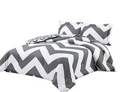 Chezmoi Collection 3-piece Reversible Chevron Zig Zag Duvet
