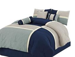 chezmoi collection 7 piece quilted patchwork duvet