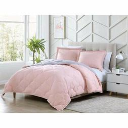 Chezmoi Collection Pink Goose Down Alternative Comforter/Duv