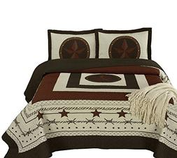 Chezmoi Collection Tucson 3-Piece Western Star Cabin Lodge D