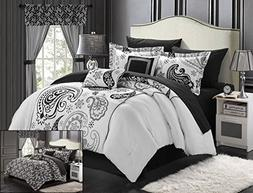 Chic Home Olivia 20-Piece Comforter Set Reversible Paisley P